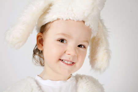 funny boy in fur hat photo