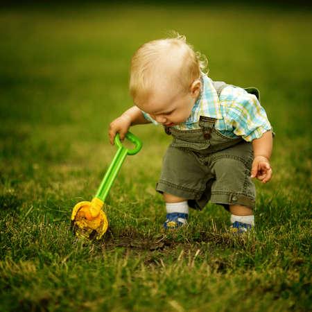 little helper with a shovel Stock Photo - 16970344