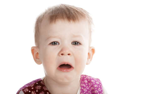 little crying girl portarit Stock Photo - 18094509