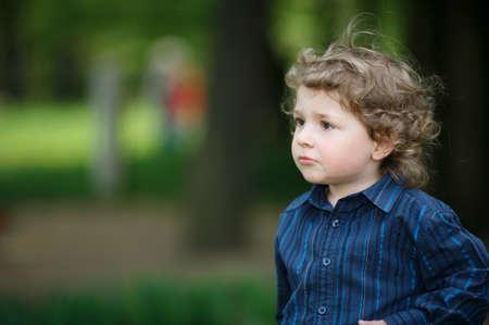 little boy on summer playground Stock Photo - 18122823