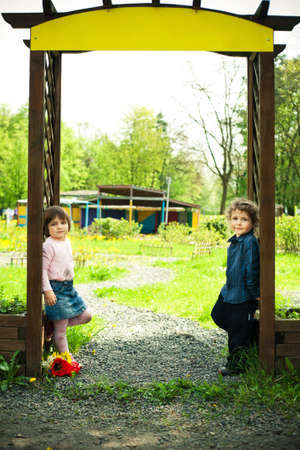 children in the gate photo
