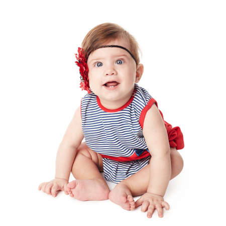 Beautiful expressive adorable happy cute smiling baby Stock Photo - 18752562