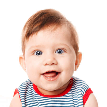 Beautiful expressive adorable happy cute smiling baby  Stock Photo - 18767385