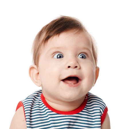 surprised child: Beautiful expressive adorable happy cute smiling baby
