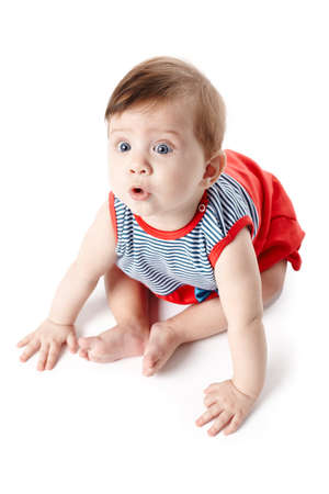 Beautiful expressive adorable happy cute smiling baby  Stock Photo - 18767389