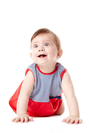 Beautiful expressive adorable happy cute smiling baby  Stock Photo - 18752466