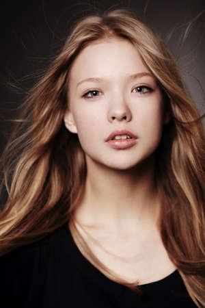 beautiful teen girl portrait 写真素材