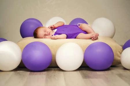 cute newborn baby sleeping Stock Photo - 22470132