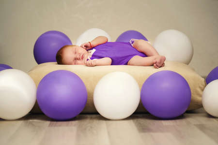 cute newborn baby sleeping Stock Photo - 22470132