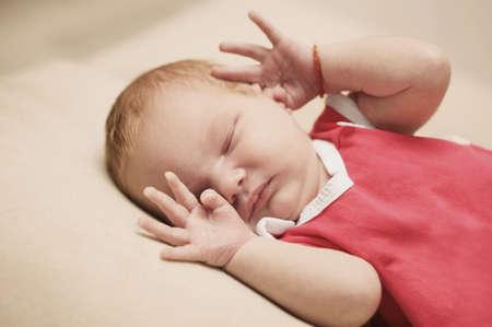cute newborn baby sleeping Stock Photo - 22470133