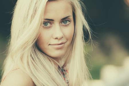 beautiful blond girl sensual portrait Stock Photo - 22808549