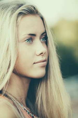 beautiful blond girl sensual portrait Stock Photo - 22808546