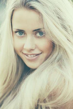beautiful blond girl sensual portrait Stock Photo - 22808550