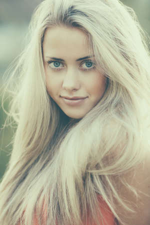 beautiful blond girl sensual portrait Stock Photo - 22808553