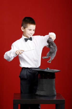 Petit magicien drôle de lapin Banque d'images - 24713547