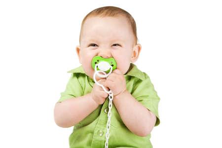 wenig glücklich Junge mit Nippel