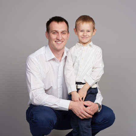 foster parenting: happy father and son