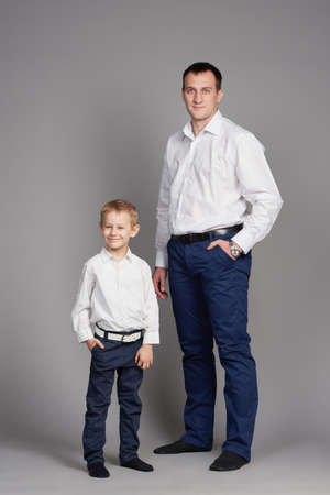 happy father and son photo
