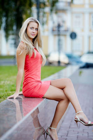 blond girl: beautiful blond girl with long hair portrait
