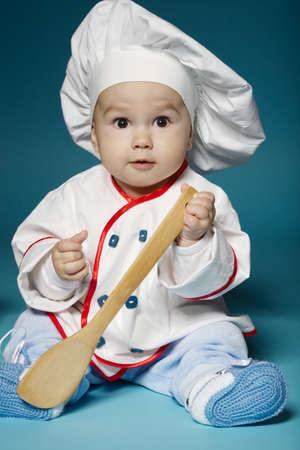 bebes lindos: foto de lindo bebé con sombrero de chef