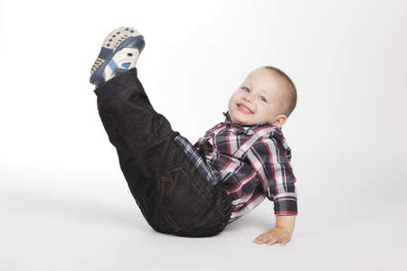 legs up: photo of little boy with legs up