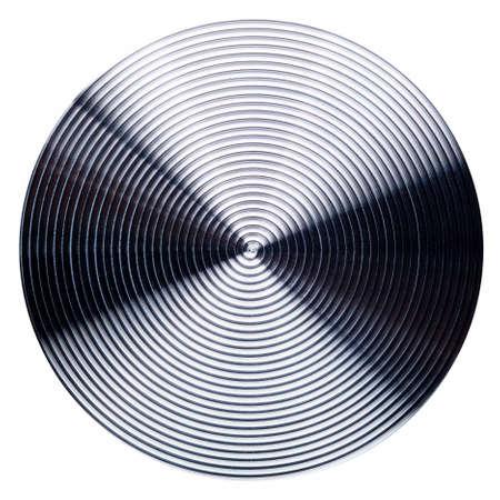 macro texture: photo of radial stainless steel macro texture