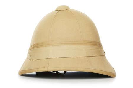 sola: photo of safari hat isolated on white background