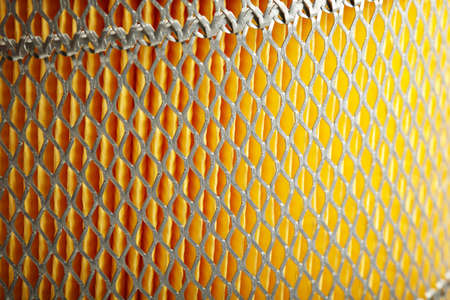 macro close up photo of car filter Stock Photo