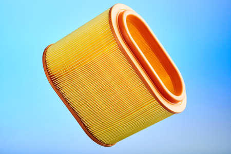 rubber gasket: photo of car filter on bright background