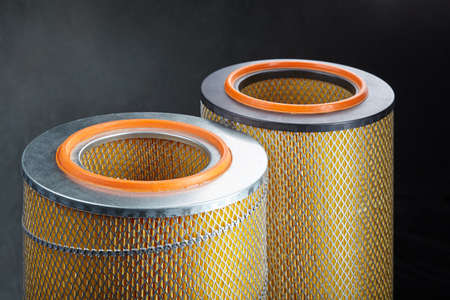 macro close up photo of car filter Imagens