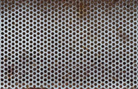 rough diamond: photo of metallic texture with spots of rust Stock Photo