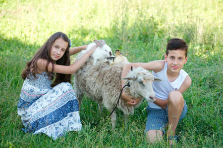 brother and sister spend summer in the village
