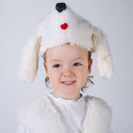dog in costume: photo of little boy with dog costume