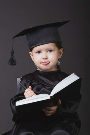 graduating: photo of diploma graduating little student kid
