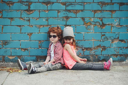 photo of two cute hipsters Stock Photo - 78771981