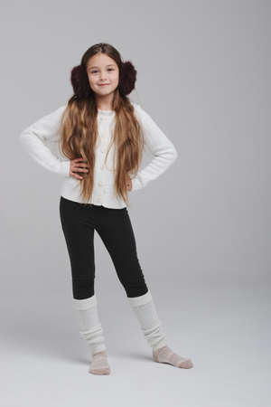 happy girl portirait on white background Stock Photo