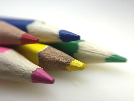 November 2016- Malaysia: Closeup of colour pencils. Taken in macro mode and selective focus. Stock Photo
