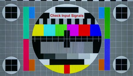 No signal TV screen closeup Stock Photo