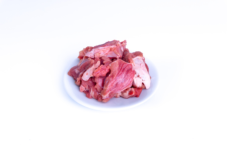 Fresh raw beef steak isolated on white background with selective focus Standard-Bild - 119420569