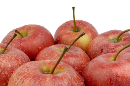 Apple on white background. Selective focus Imagens