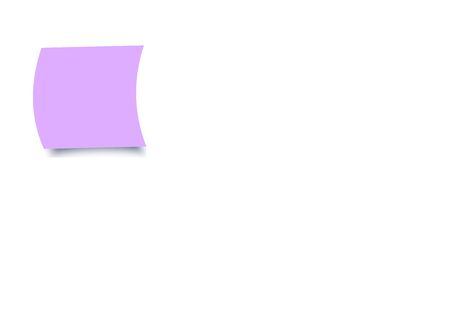 Purple colour sticky notes on white background
