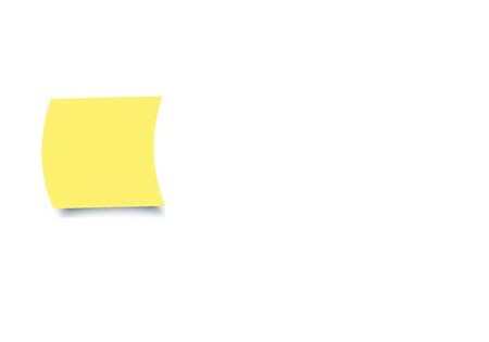 Yellow colour sticky notes on white background