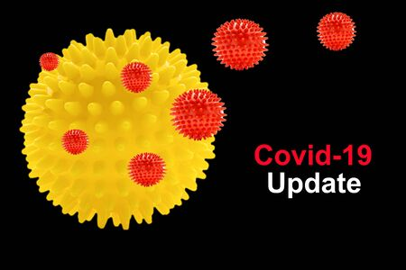 COVID-19 UPDATE text on black background. Covid-19 or Coronavirus