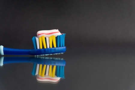 Toothbrush closeup on white background. Healthy concept Stok Fotoğraf