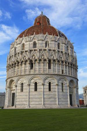 The Baptistery of St. John in Pisa, Tuscany, Italy photo
