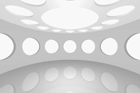 3D visualization of a modern futuristic interior empty space round Stock Photo - 8922057