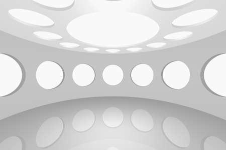3D visualization of a modern futuristic interior empty space round Stock Photo - 8922057