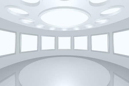 3D visualization of a modern futuristic inter picture gallery Stock Photo - 8922053