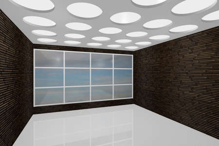 3D visualization of a modern interior empty new room Stock Photo - 8921294