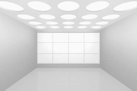 3D visualization of a modern interior empty new room Stock Photo - 8921288